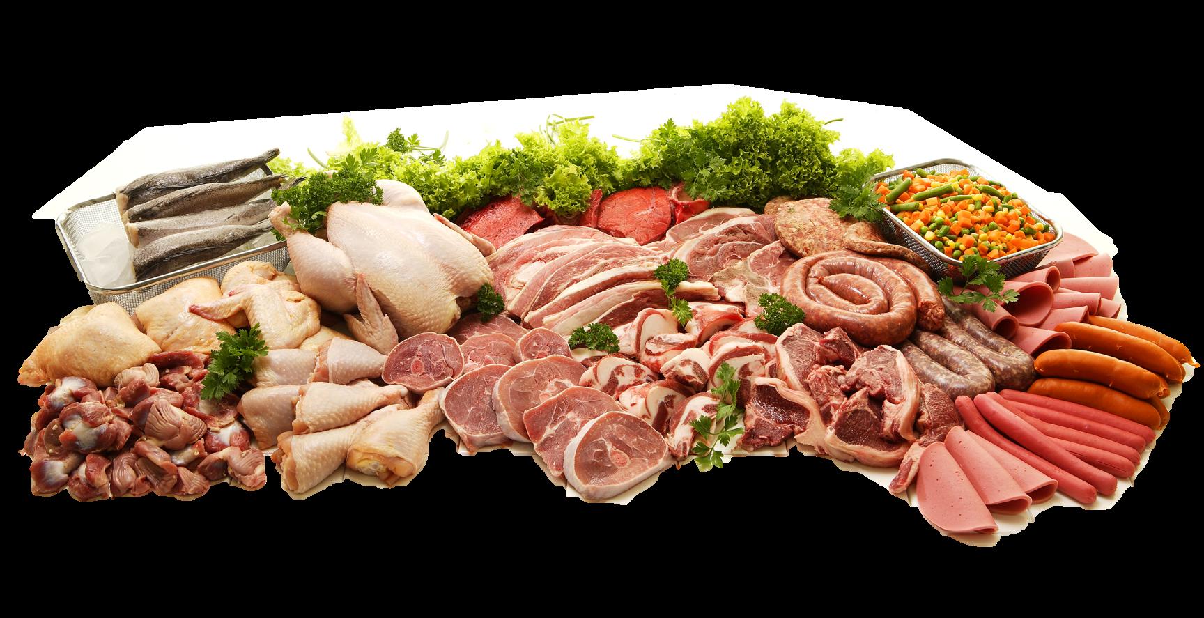 Meat Arrangement Background Removed